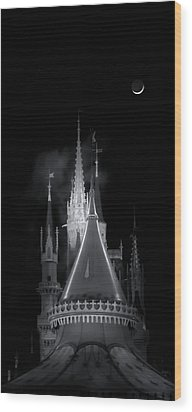 Wood Print featuring the photograph Dark Castle by Mark Andrew Thomas