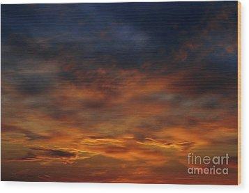 Dark Clouds Wood Print by Michal Boubin