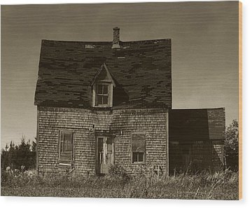 Wood Print featuring the photograph Dark Day On Lonely Street by RC DeWinter