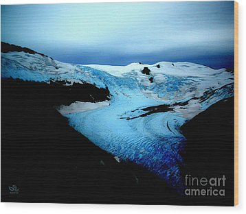 Dark Glacier Wood Print