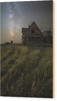 Wood Print featuring the photograph Dark Manor by Aaron J Groen