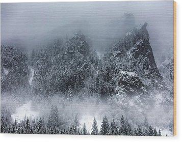 Dark Mountain Wood Print by Evgeni Dinev