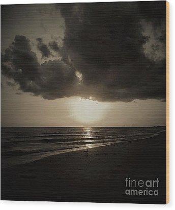 Dark Ocean 1 Wood Print by Amanda Currier