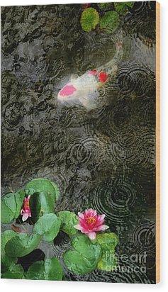 Dark Rain Wood Print