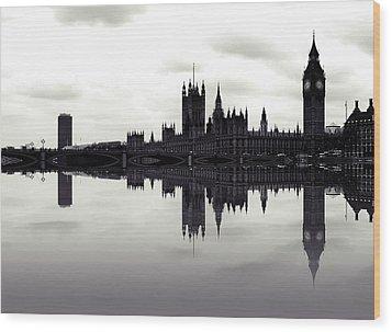 Dark Reflections Wood Print by Sharon Lisa Clarke