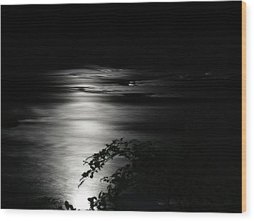 Dark River Wood Print