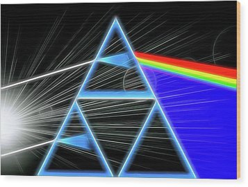Wood Print featuring the digital art Dark Side Of The Moon by Dan Sproul
