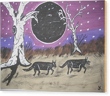 Dark Side Of The Moon Wood Print by Jeffrey Koss