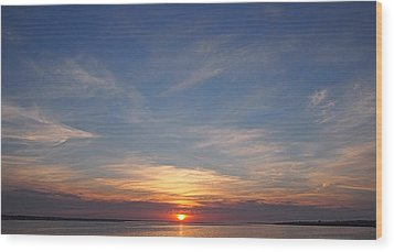 Wood Print featuring the photograph Dark Sunrise by  Newwwman