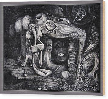 Dark Surprise Wood Print by Otto Rapp