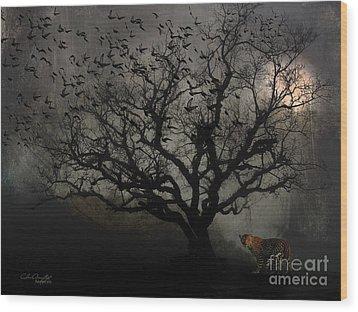 Dark Valley Wood Print by Chris Armytage