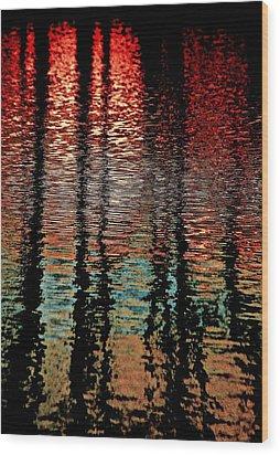 Dark Waters Wood Print by Gillis Cone
