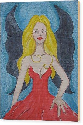 Dark Wings II Wood Print by Lindie Racz