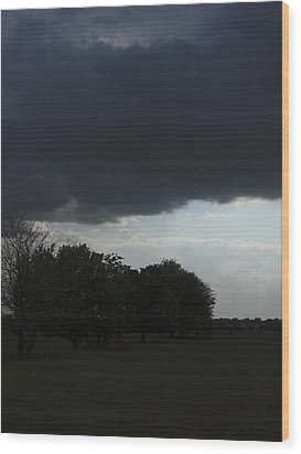 Wood Print featuring the photograph Darkened Horizons by Maggy Marsh