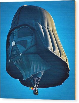 Darth Vader Wood Print by Brian Stevens
