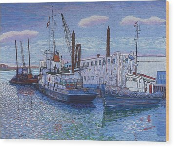 Dartmouth Marine Slips Wood Print