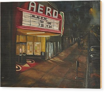 Date Night Wood Print by Lindsay Frost