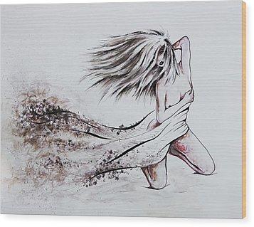 Daughter Of Eve Wood Print by Rachel Christine Nowicki