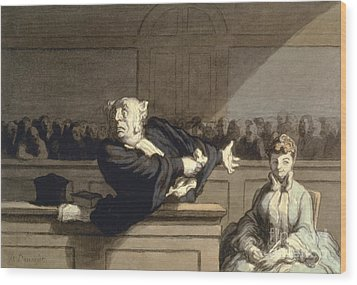 Daumier: Advocate, 1860 Wood Print by Granger