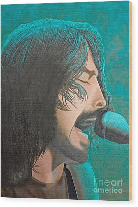 Dave Grohl Of The Foo Fighters Wood Print