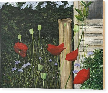 Dave's Garden Wood Print