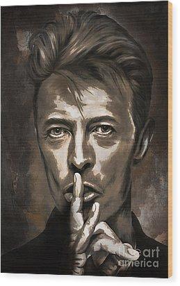 Wood Print featuring the painting David by Andrzej Szczerski