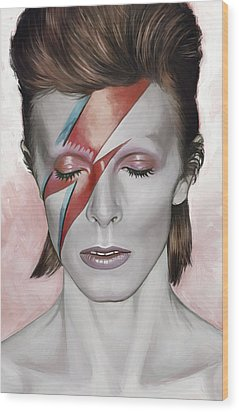 David Bowie Artwork 1 Wood Print by Sheraz A