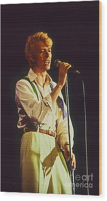 David Bowie Hot Pants Wood Print by Philippe Taka