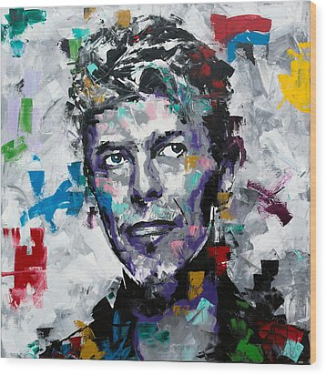Wood Print featuring the painting David Bowie II by Richard Day