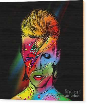 David Bowie Wood Print by Mark Ashkenazi