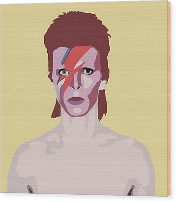 David Bowie Wood Print by Nicole Wilson