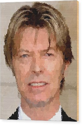 David Bowie Portrait Wood Print