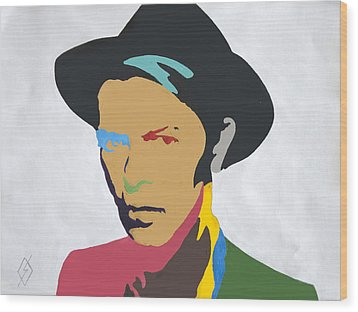 David Bowie Wood Print by Stormm Bradshaw