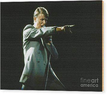 Wood Print featuring the photograph David Bowie The Point by Sue Halstenberg