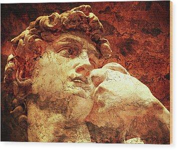 David By Michelangelo Wood Print by J- J- Espinoza