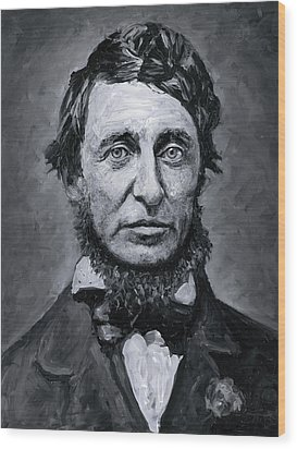 David Henry Thoreau Wood Print