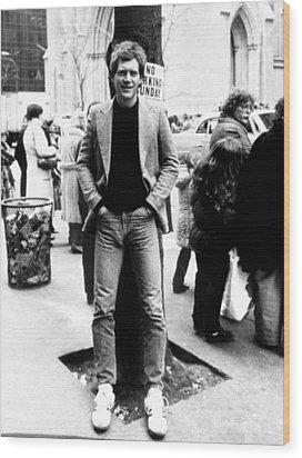 David Letterman, 010882 Wood Print by Everett