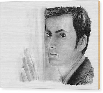 David Tennant 2 Wood Print by Rosalinda Markle