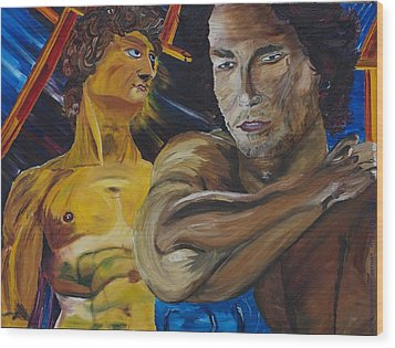 David V. Hollywood Wood Print by Gregory Allen Page
