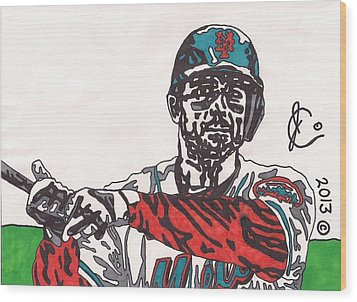 David Wright 2 Wood Print by Jeremiah Colley