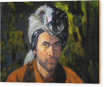 Davy Crockett Wood Print by David Lee Thompson