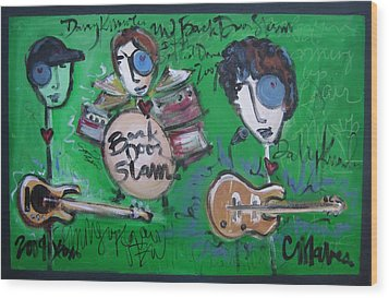 Davy Knowles And Back Door Slam Wood Print by Laurie Maves ART