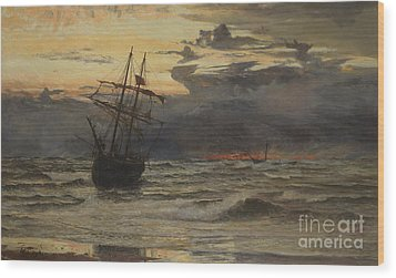 Dawn After The Storm Wood Print by William Lionel Wyllie