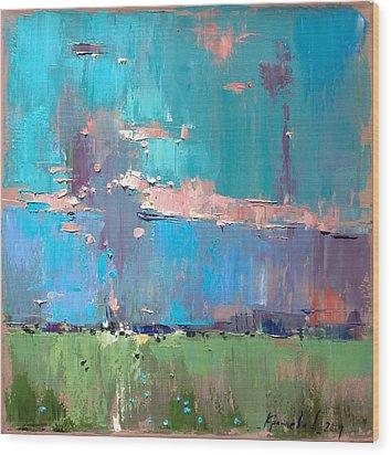Wood Print featuring the painting Dawn by Anastasija Kraineva