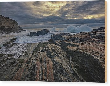Wood Print featuring the photograph Dawn At Bald Head Cliff by Rick Berk