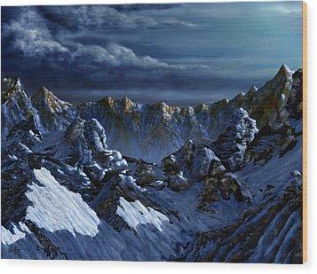 Wood Print featuring the digital art Dawn At Eagle's Peak by Curtiss Shaffer