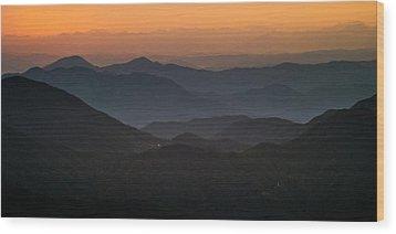 Dawn At Jirisan Wood Print by Ng Hock How