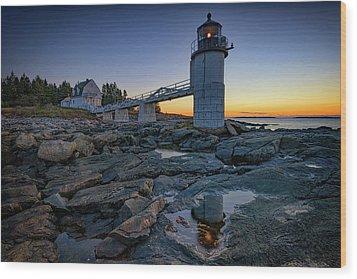 Dawn At Marshall Point Wood Print by Rick Berk