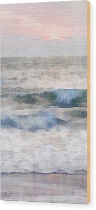 Wood Print featuring the digital art Dawn Beach by Francesa Miller