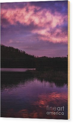 Wood Print featuring the photograph Dawn Big Ditch Wildlife Management Area by Thomas R Fletcher